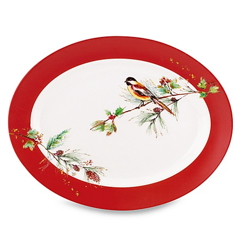 Lenox® Winter Song 16-Inch Oval Platter