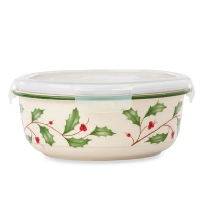 Lenox® Holiday™ Casserole with Lid