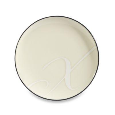 "Noritake Colorwave Graphite Letter ""X"" Accent Plate"