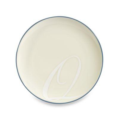 """Noritake® Colorwave Blue Rim Letter """"Q"""" Accent Plate"""