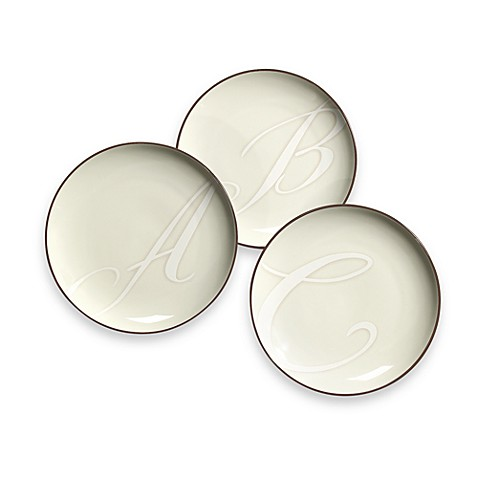 Noritake® Colorwave Monogram Chocolate Accent Plates