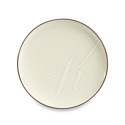 "Noritake Colorwave Letter ""K"" Accent Plate in Chocolate"