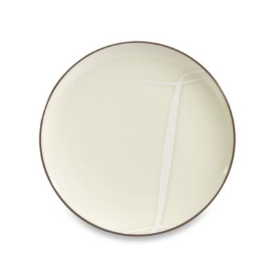 "Noritake® Colorwave Letter ""I"" Accent Plate in Chocolate"