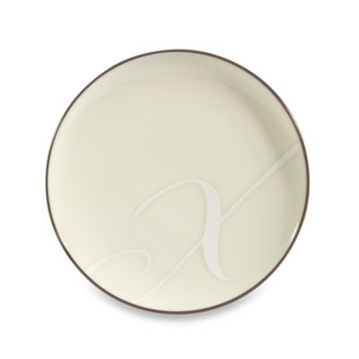 "Noritake® Colorwave Letter ""X"" Accent Plate in Chocolate"