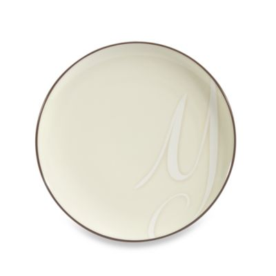 "Noritake® Colorwave Letter ""Y"" Accent Plate in Chocolate"
