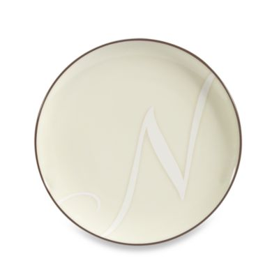 "Noritake® Colorwave Letter ""N"" Accent Plate in Chocolate"