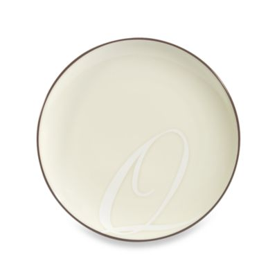"Noritake® Colorwave Letter ""Q"" Accent Plate in Chocolate"