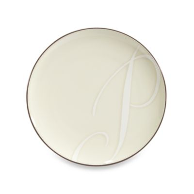 "Noritake® Colorwave Letter ""P"" Accent Plate in Chocolate"