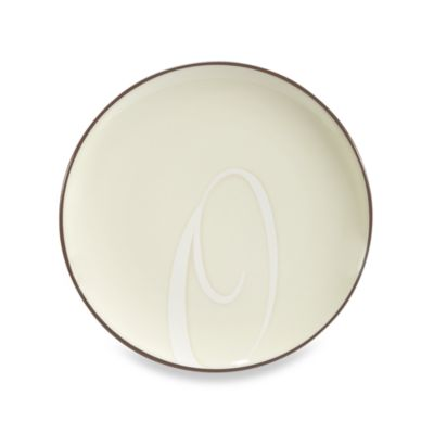 "Noritake® Colorwave Letter ""O"" Accent Plate in Chocolate"
