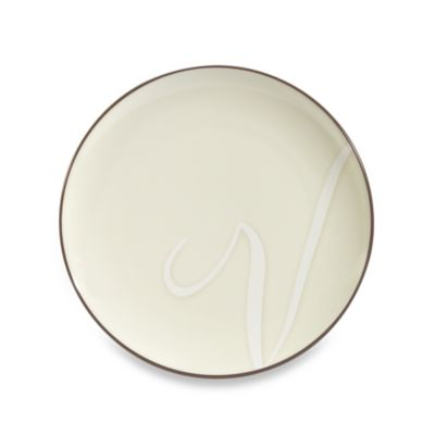 "Noritake® Colorwave Letter ""V"" Accent Plate in Chocolate"