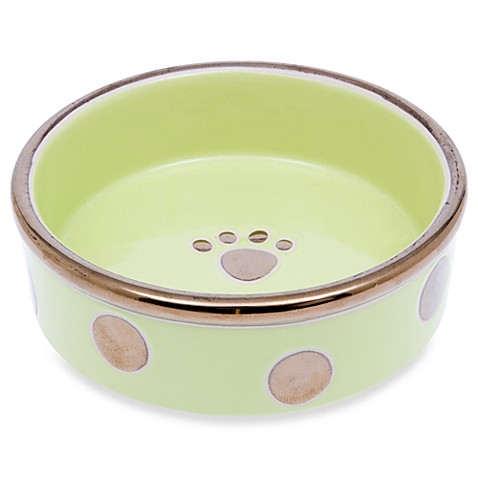 Petrageous® Designs Glitzy Dots Kiwi 5-Inch Pet Bowl