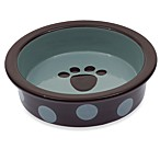 Petrageous® Designs Sassy Too 5 1/2-Inch Shallow Round Stoneware Pet Bowl