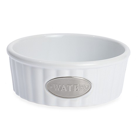 Petrageous® Designs Class Act Stoneware 5-Inch Round Pet Water Bowl