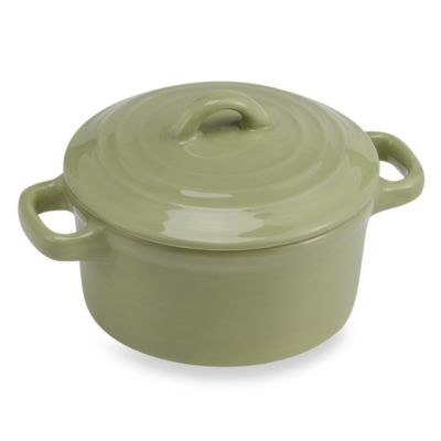 Misto Green Mini Round Covered Casserole Dish