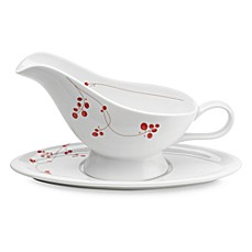 Mikasa® Gourmet Basics Red Berries Gravy Boat And Saucer
