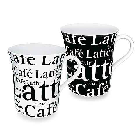 Mug With Cafe Latte Wording