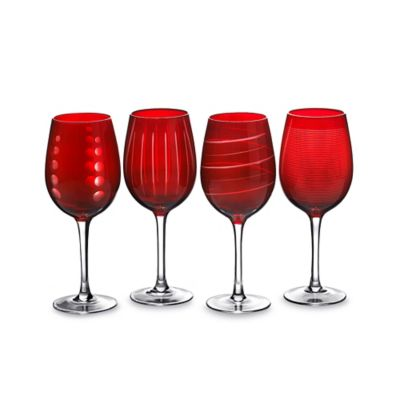 Cheers Ruby Wine Glasses