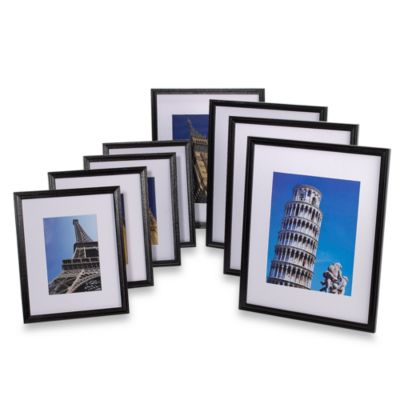 Wood Frames 8-Inch x 10-Inch in Black (Set of 4)
