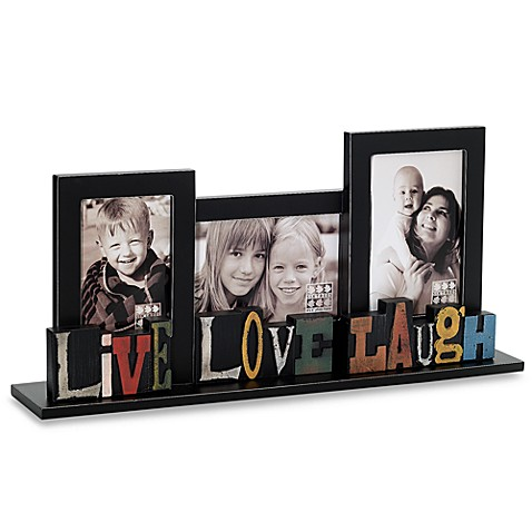 Sixtrees Live Love Laugh Free Standing Collage Frame