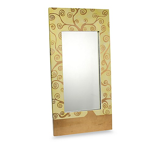 Decorative Rectangular Wall Mirror With Paisley Design