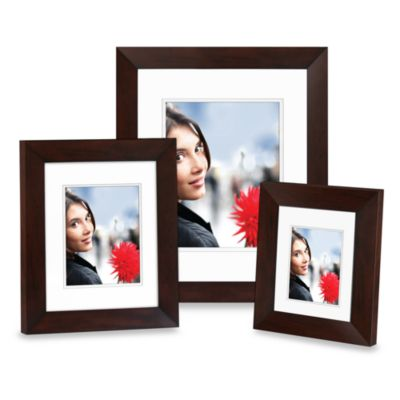 Nielsen Bainbridge 11-Inch x 14-Inch Wood Photo Frame in Mocha