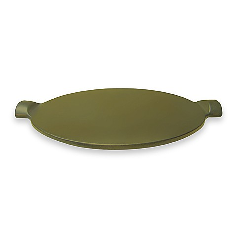 Emile Henry 14-1/2-Inch Round Pizza Stone in Olive