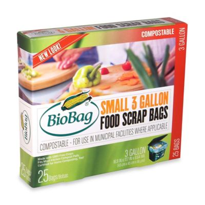 BioBag® Certified Compostable 25-Count 3-Gallon Food Waste Bags