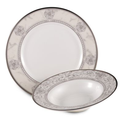 Naples Platinum 8-Inch Rim Soup Bowl