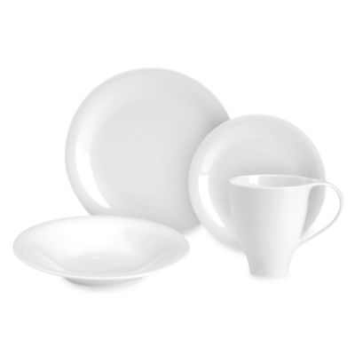 Mikasa® Sleek White 4-Piece Place Setting