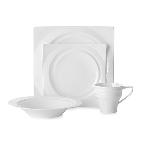 Mikasa® Cyclone White 4-Piece Place Setting