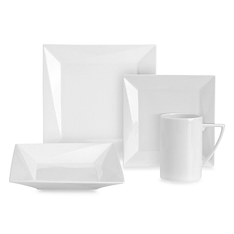 Mikasa Sculpture White 4-Piece Dinnerware Place Setting