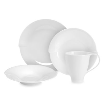 Mikasa® Spin White 4-Piece Dinnerware Place Setting