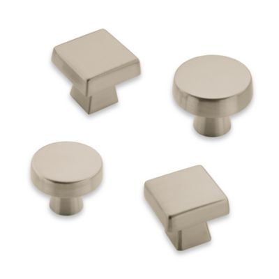 Amerock® Blackrock Satin Nickel 1 1/6-Inch Square Drawer Knob