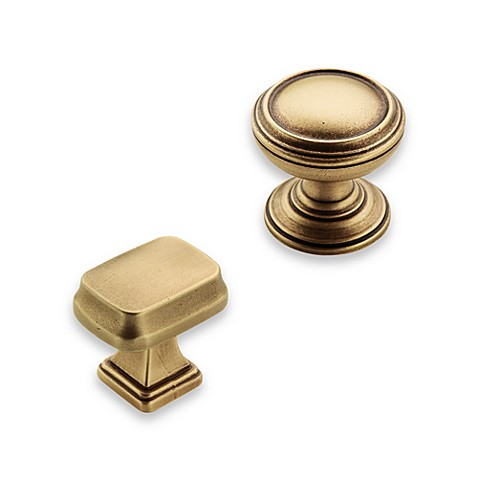 Amerock® Revitalize Gilded Bronze 1 1/4-Inch Rectangular Drawer Knob