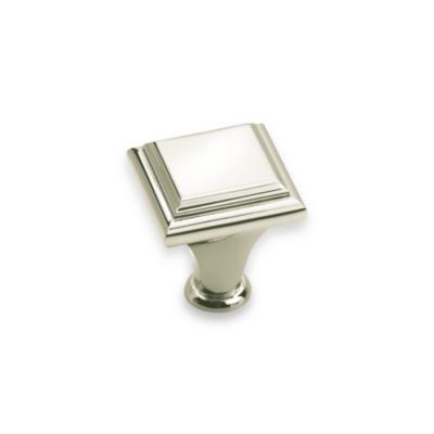 Amerock® 1-Inch Square Drawer Knob in Polished Nickel