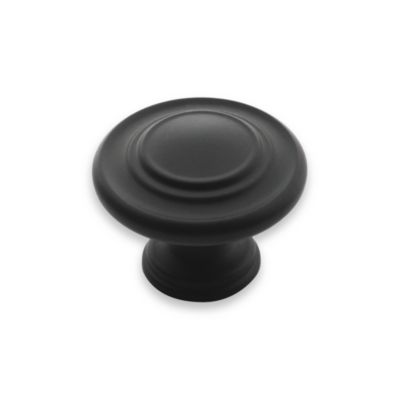 Amerock® Inspirations 3-Ring Drawer Knob in Flat Black