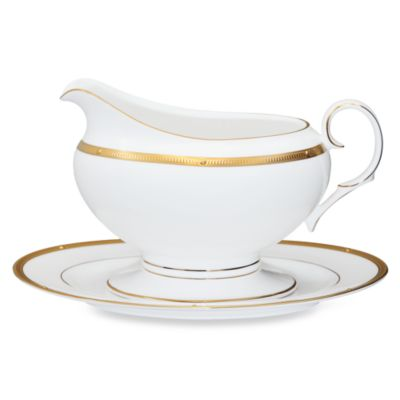 Noritake® Rochelle Gold Gravy Boat With Tray