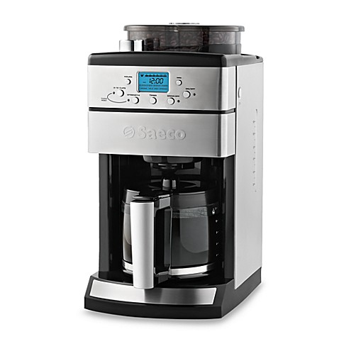 Saeco Coffee Grinder And Brewer With Glass Carafe Coffee Grinder