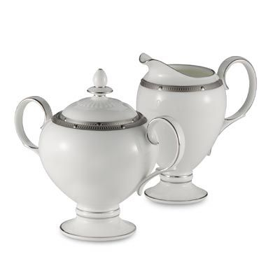 Noritake® Rochelle Platinum Covered Sugar Bowl