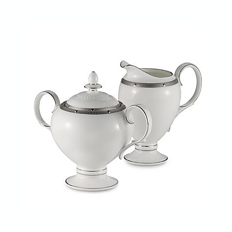 Noritake® Rochelle Covered Sugar Bowl in Platinum