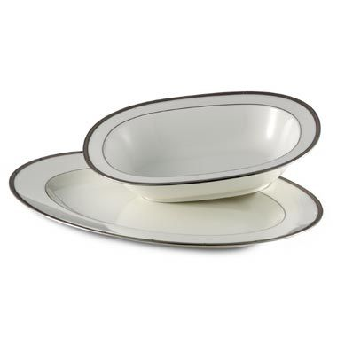Noritake® Rochelle 10 3/4-Inch Oval Vegetable Dish in Platinum