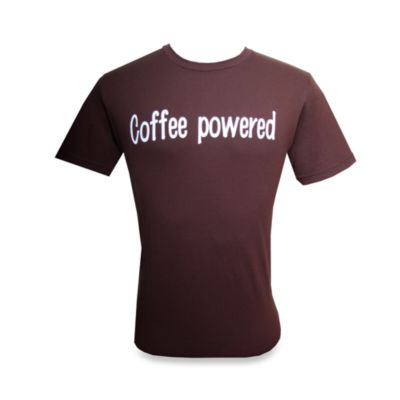 "Men's ""Coffee Powered"" Brown T-Shirt"