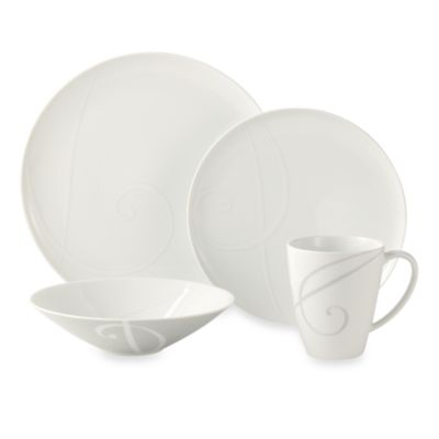 Noritake® White Twirl 4-Piece Place Setting