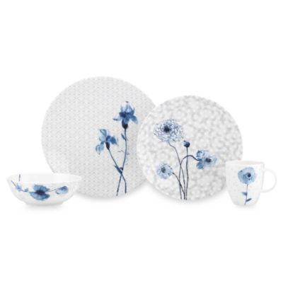 Simply Fine Lenox® Watercolor Indigo Blue 4-Piece Dinnerware Set