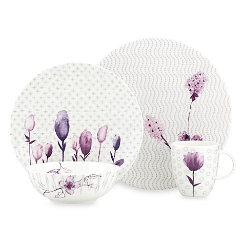Simply Fine Lenox® Watercolor Amethyst 4-Piece Dinnerware Set