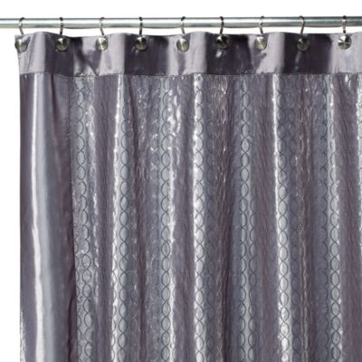 Infinity Silver Bathroom Curtain