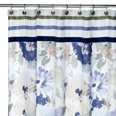 70 x 72 Croscill Floral Fabric Shower Curtain