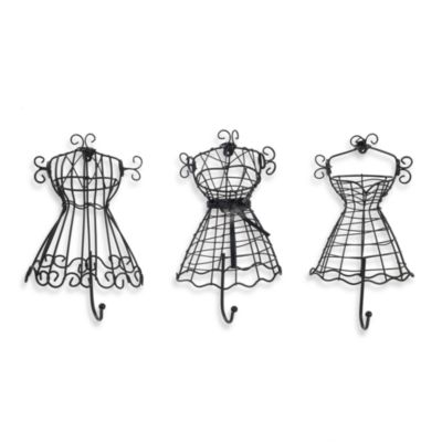 Black Wire Dress Hooks (Set of 3)
