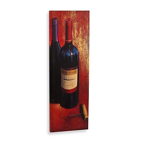 Merlot Abstract Printed Canvas Wall Art