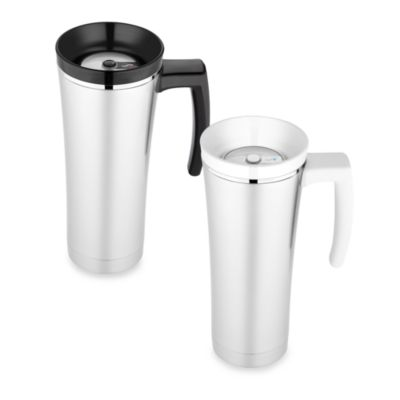 Sipp™ Vacuum Insulated Travel Mug in Black